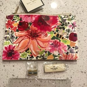 Posh Kate Spade pencil case/pouch and tools inside